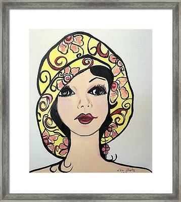 Flapper Girl Claire Framed Print