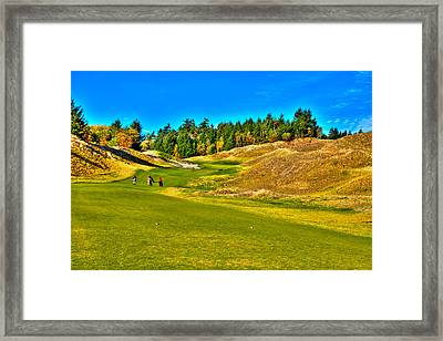 #12 At Chambers Bay Golf Course - Location Of The 2015 U.s. Open Championship Framed Print
