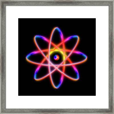 Atomic Structure Framed Print by Alfred Pasieka