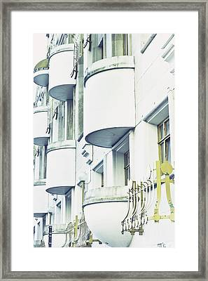 Balconies Framed Print by Tom Gowanlock