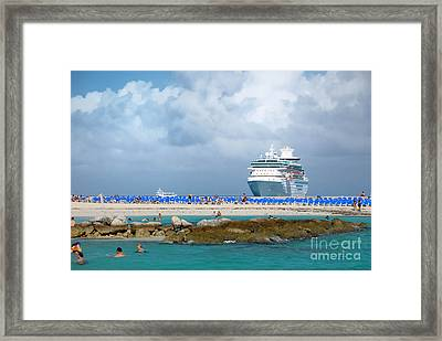 Beach At Coco Cay Framed Print by Amy Cicconi