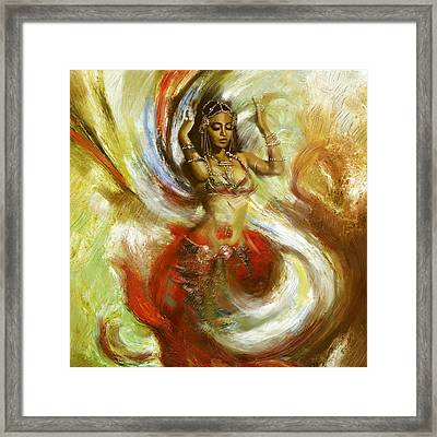 Abstract Belly Dancer 15 Framed Print