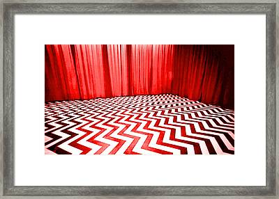 Black Lodge Framed Print by Luis Ludzska