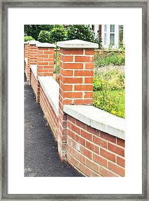Brick Wall Framed Print