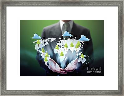 Business Abstract Framed Print by Atiketta Sangasaeng