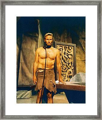 Charlton Heston In Planet Of The Apes  Framed Print