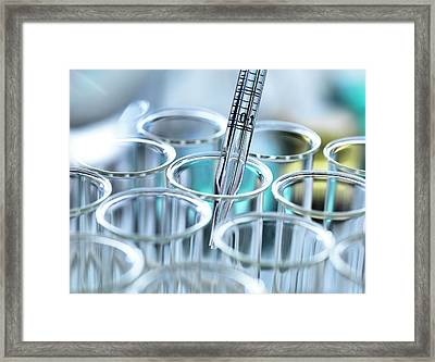 Chemical Research Framed Print by Tek Image