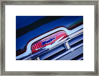 Chevrolet Grille Emblem Framed Print by Jill Reger