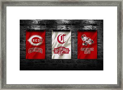 Cincinnati Reds Framed Print by Joe Hamilton