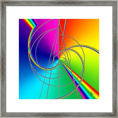 Depression Color Therapy Inside A Rainbow Framed Print by Sir Josef - Social Critic - ART