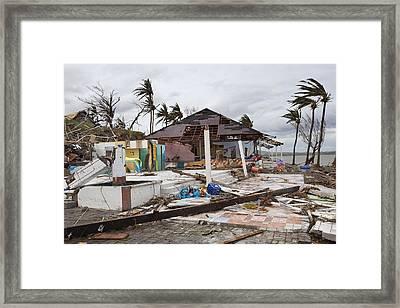 Destruction After Super Typhoon Haiyan Framed Print