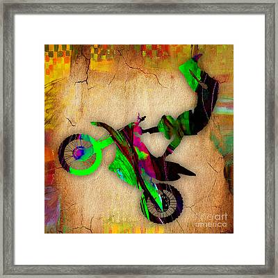 Dirt Bike Framed Print