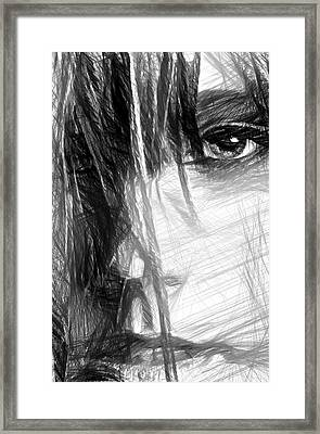 Facial Expressions Framed Print