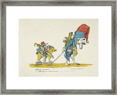 French Caricature Framed Print