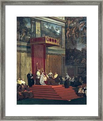 Ingres, Jean-auguste-dominique Framed Print by Everett