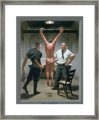 12. Jesus Is Beaten / From The Passion Of Christ - A Gay Vision Framed Print by Douglas Blanchard