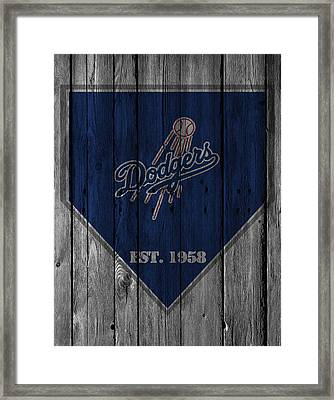 Los Angeles Dodgers Framed Print by Joe Hamilton