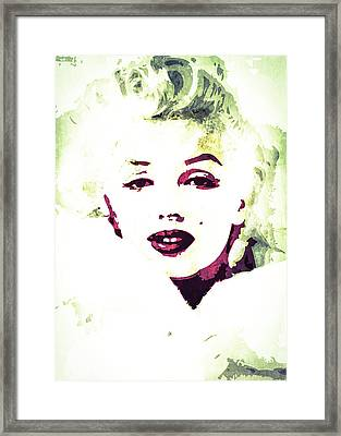 Marilyn Monroe Framed Print by Svelby Art