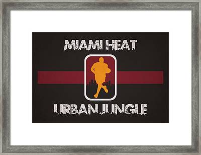 Miami Heat Framed Print by Joe Hamilton