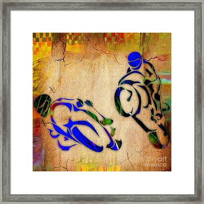 Motorcycle Racing Framed Print