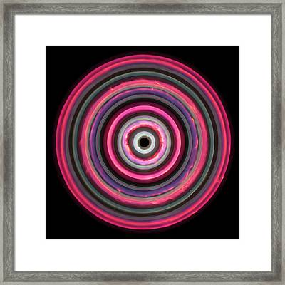 Multicoloured Light Trails Framed Print by Lawrence Lawry