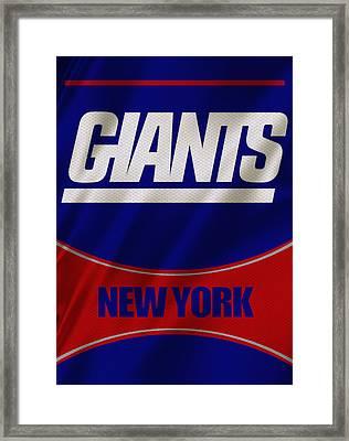 New York Giants Uniform Framed Print by Joe Hamilton