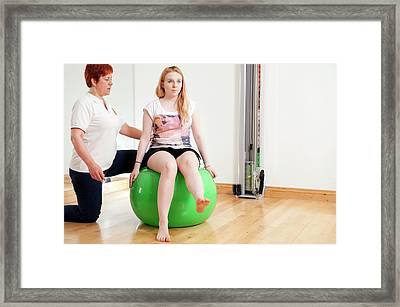 Physiotherapy Session Framed Print