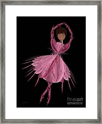 12 Pink Ballerina Framed Print by Andee Design