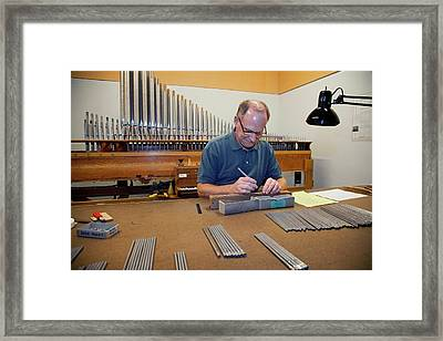 Pipe Organ Factory Framed Print by Jim West