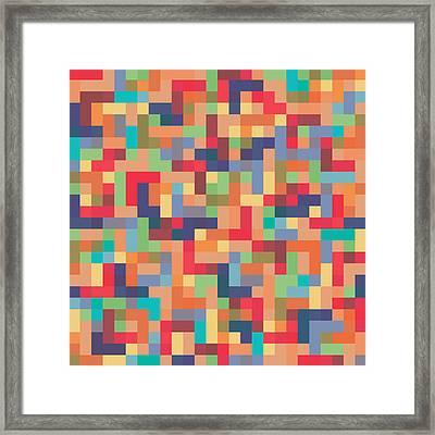 Pixel Art Framed Print