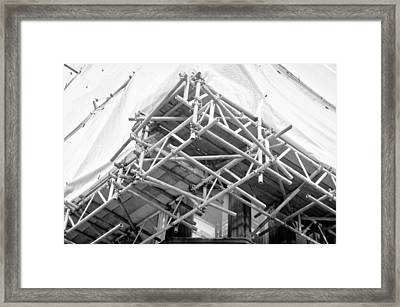 Scaffolding Framed Print
