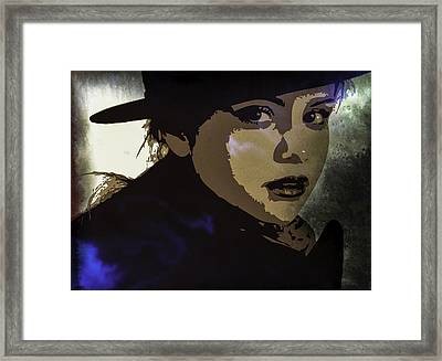 Selena Gomez Framed Print by Svelby Art