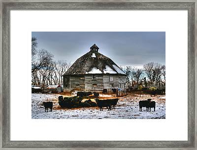 12 Sided Barn Framed Print by Larry Trupp