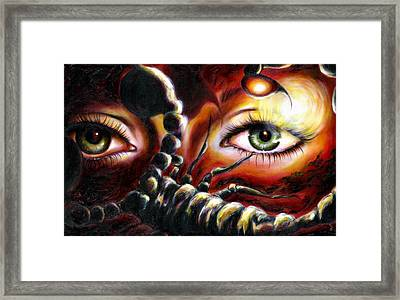 12 Signs Series Scorpio Framed Print