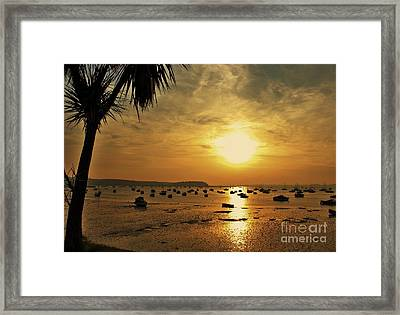 Sunset Framed Print by Katy Mei