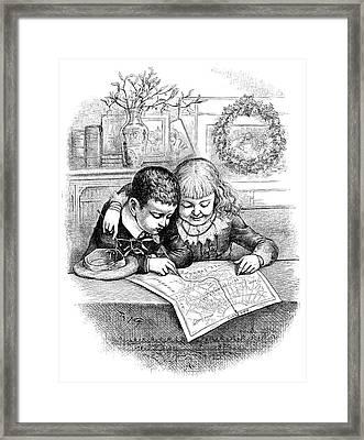 Thomas Nast Christmas Framed Print