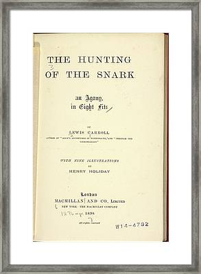 Title Page Framed Print