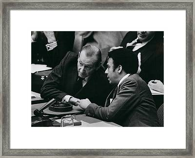 Un Security Council Meeting Framed Print by Retro Images Archive