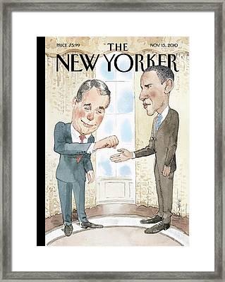 New Yorker November 15th, 2010 Framed Print by Barry Blitt