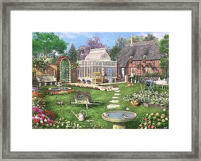The Cottage Garden Framed Print by Dominic Davison