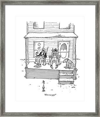 Were We Gay? Framed Print by George Booth