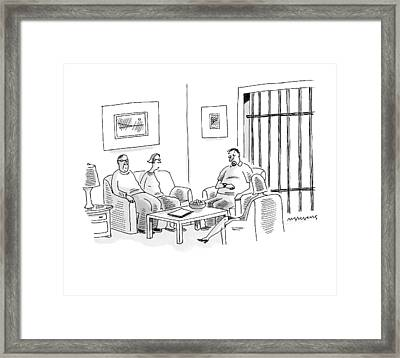 Caption Contest Tk Framed Print