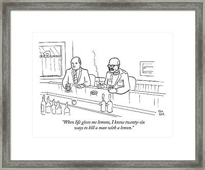 When Life Gives Me Lemons Framed Print by Paul Noth