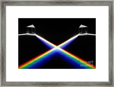 White Light Spectrum Framed Print by GIPhotoStock