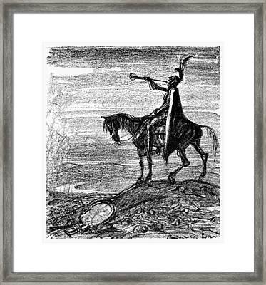 World War I Cartoon, 1914 Framed Print by Granger