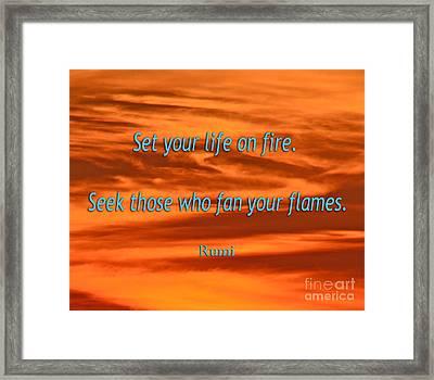 120- Rumi Framed Print