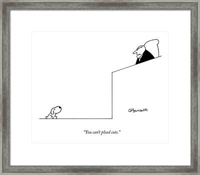 You Can't Plead Cute Framed Print