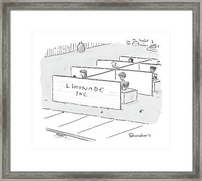 New Yorker August 9th, 2004 Framed Print by Danny Shanahan