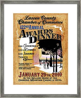 122nd Annual Awards Dinner Framed Print