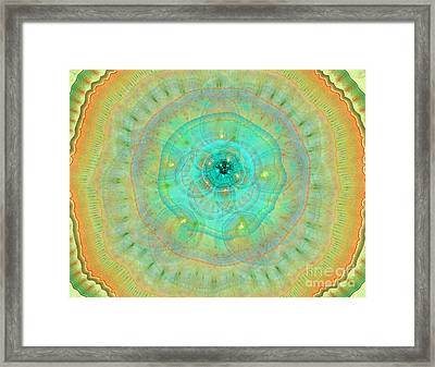 Colorful Abstract Forms Framed Print by Odon Czintos